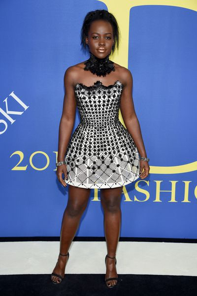 Lupita Nyong'o in Versace at the 2018 CFDA Awards