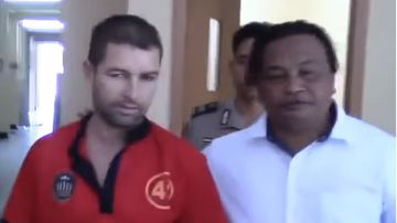 Accused drug trafficker Felix Dorfin (left) has escaped from an Indonesian jail.