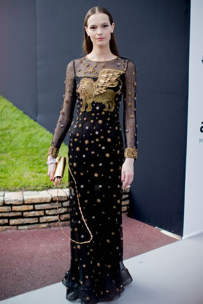 Mina Cvetkovic in Alberta Ferreti at the amfAR Gala, Cannes 2017