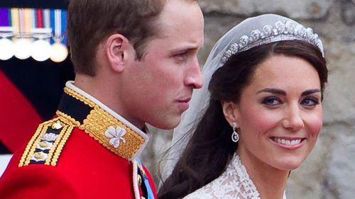 The exhibition includes the tiara worn by the Duchess of Cambridge on her wedding day. (AAP)