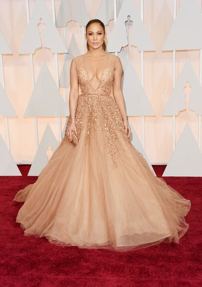 Jennifer Lopez in Elie Saabat the 87th Annual Academy Awards in Hollywood, February, 2015