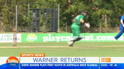 Suspended David Warner upbeat after solid Top End return to cricket in Australia
