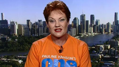 Pauiline Hanson. (TODAY Show)