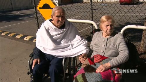 Alf and Hetty Craster will be reunited with his wife after an aged care facility offered to keep the couple together. (9NEWS)