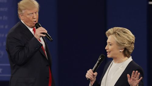 Donald Trump and Hillary Clinton pictured during the 2016 presidential elections.