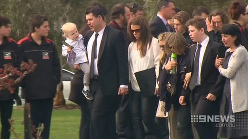 Family and friends spoke about Cooper and what he meant to them. (9NEWS)