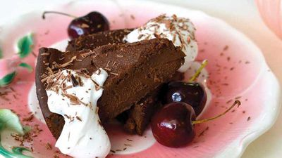 "<a href=""http://kitchen.nine.com.au/2016/07/27/13/38/hayley-cavicchiolos-rich-chocolate-cake"" target=""_top"">Hayley Cavicchiolo's rich chocolate cake</a> recipe - low sugar, gluten free, dairy free"
