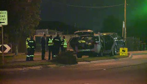 Police were forced to use a stun grenade during the standoff. Picture: 9NEWS