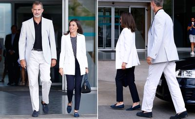 Spain's King and Queen couple dress, August 2019