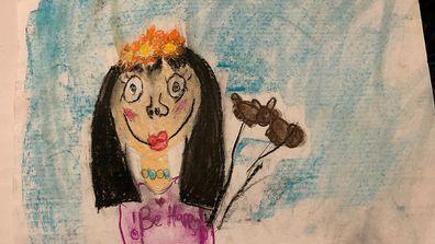 Momo drawing by girl
