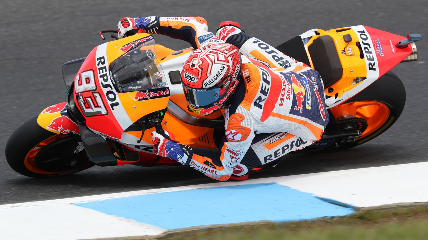 Marc Marquez claims pole at Australian MotoGP