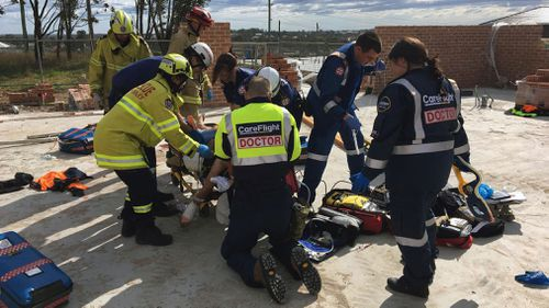 A man is fighting for his life after being hurt in the Kellyville incident.