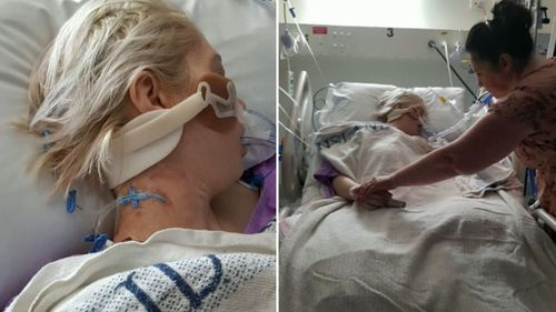 Five months ago, Mrs Seymour ended up in a coma in hospital, covered in bruises but not knowing what had happened.