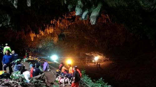 The temperature inside the cave maintains a stable temperature of about 25 degrees. (AAP)