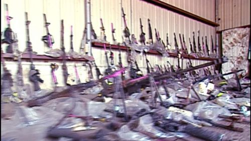 After months of illegally stockpiling weapons, Koresh gained the attention of the US Bureau of Alcohol, Firearms and Tobacco, which lead to the initial compound raid. (60 Minutes)