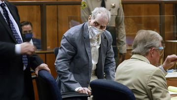 Robert Durst looked at jurors walking into the courtroom as he appeared in a California courtroom.