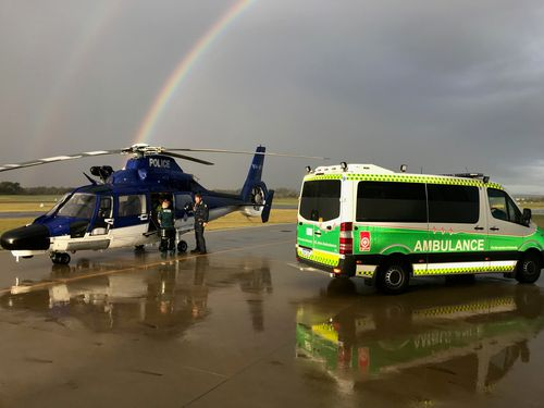 A break in the weather helped Police Air Wing find the woman. (WA Police)