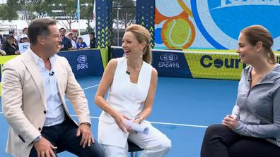 Jelena Dokic judges Karl Stefanovic's tennis skills