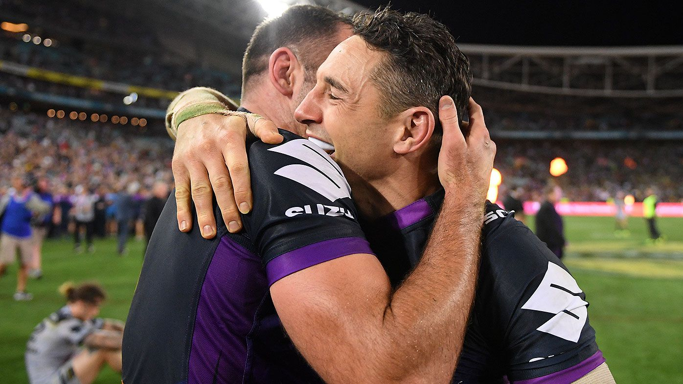 Billy Slater and Cameron Smith set to be immortalised with statues outside AAMI Park