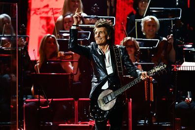 Ronnie Wood performs during The BRIT Awards 2020 at The O2 Arena on February 18, 2020 in London, England.