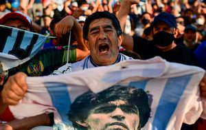 'You took us to the top of the world': Argentina erupts following Diego Maradona's death