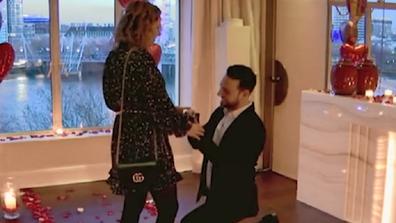 Proposal couple proposal moment.