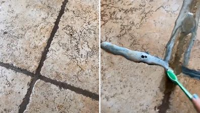 Woman shares how she transformed her 'nasty' dirty grout in TikTok video