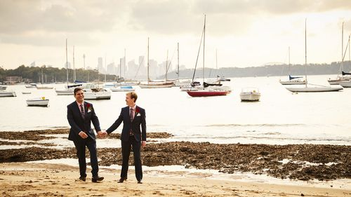 Scott Jarrott (right) and Phillip Munoz on their wedding day.