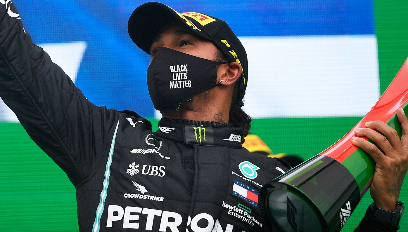 Lewis Hamilton survives opening-lap chaos to win 92nd Formula One race