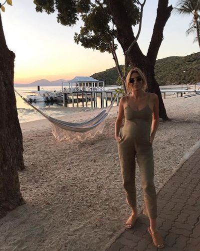 Nadia Bartel, wearing Assembly Label, on Orpheus Island, August, 2018