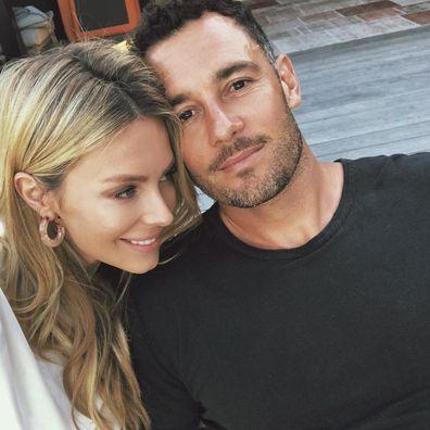 Jennifer Hawkins and Jake Wall