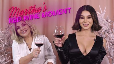 Martha's Red Wine Moment from Dinner Party #2