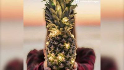 People are decorating pineapples like Christmas trees, and it's awesome