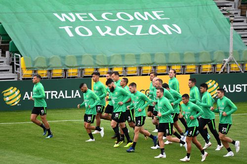 Australia's national team kick off their competition against France on Saturday night. Picture: AAP.