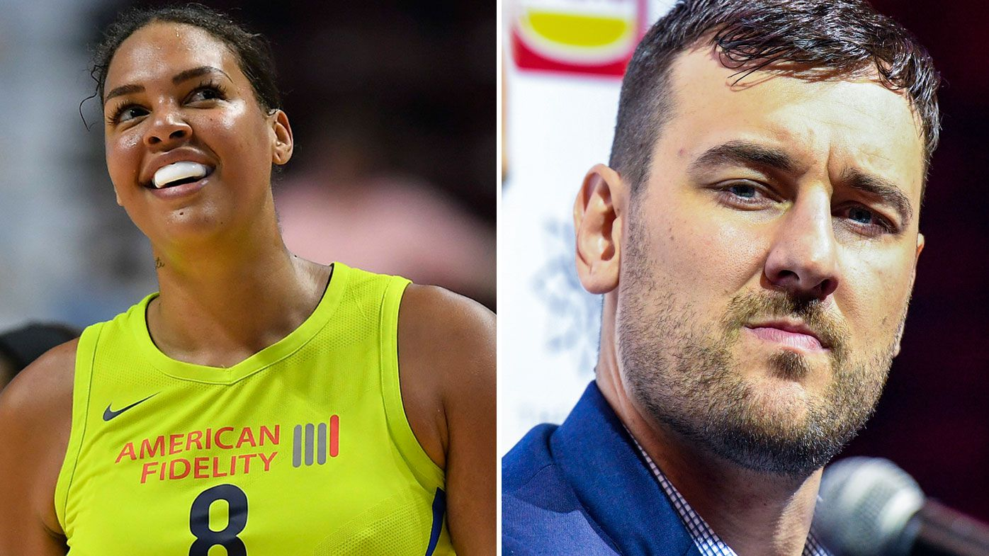 Liz Cambage and Andrew Bogut