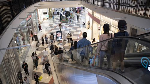 A busy Burwood Westfield Shopping Centre in Sydney.