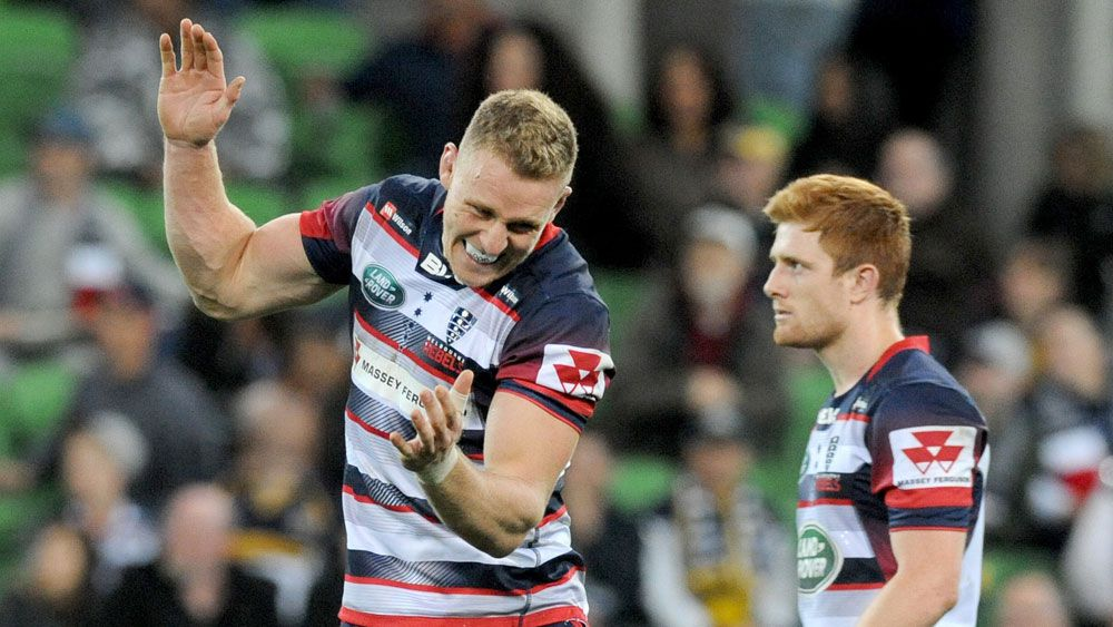 The Melbourne Rebels scored their first win of the Super Rugby season. (AAP)