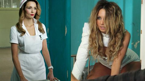 Hot pics: Ricki-Lee busts out as naughty nurse and crazy patient in new clip