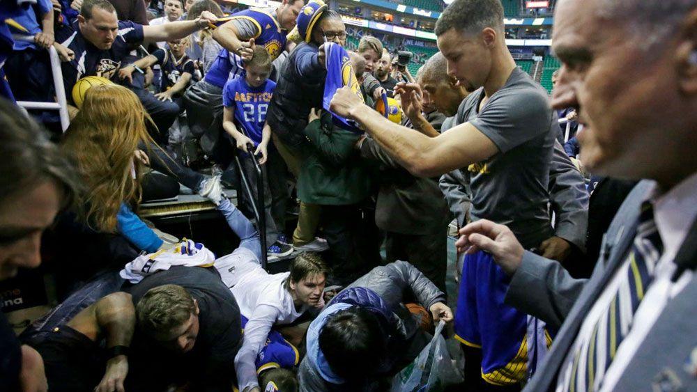 Autograph hunters take a tumble at NBA