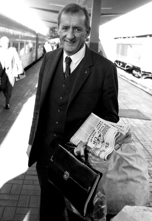 Tim Fischer arrives at Central Station in Sydney on the Southern Aurora on July 19, 1986.