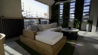 Chris and Kim's Outdoor Terrace from The Block Season 12 (2016)