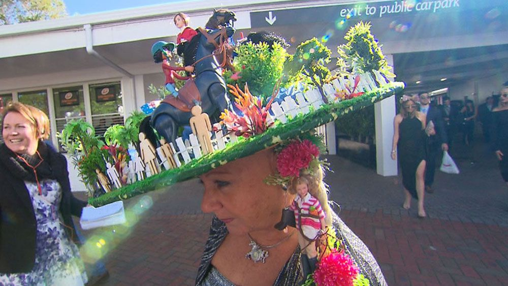 Is this the most elaborate Melbourne Cup hat yet?