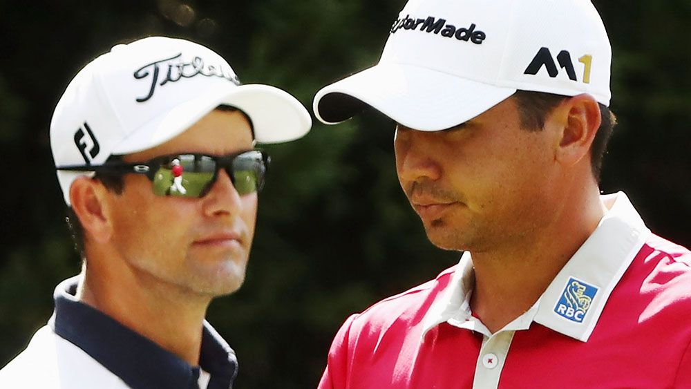 Adam Scott and Jason Day. (AAP)