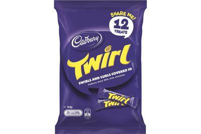 Fun-size Twirl: Close to 2 teaspoons of sugar