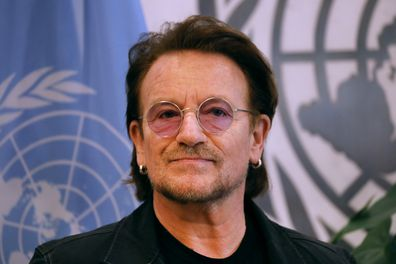 Bono in New York on February 11, 2020