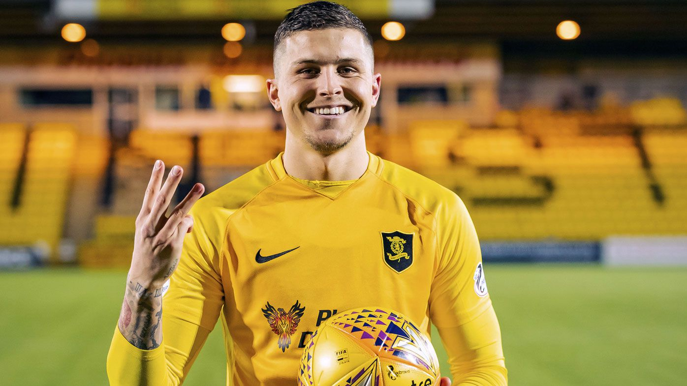 Livingston coach praises Aussie Lyndon Dykes after historic hat-trick in Scotland