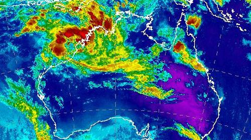 A tropical storm on the west coast is expected to develop into a cyclone over the weekend. (Bureau of Meteorology)