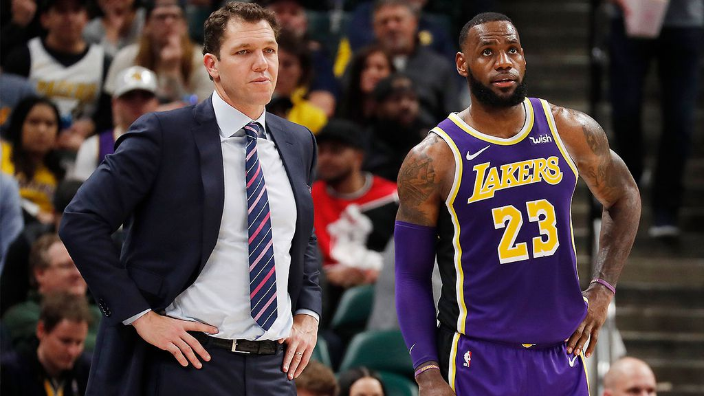 8b7c2158e3f Ball unloaded on both James and Lakers coach Luke Walton in his incredible  rant (AAP)