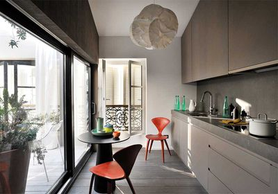 Charcoal cabinets
