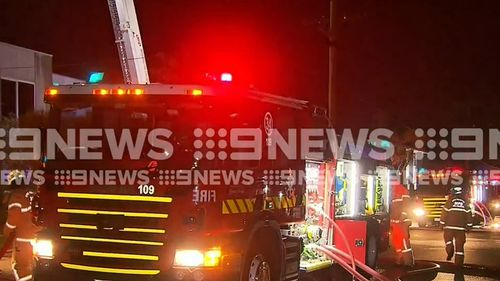 A blaze has engulfed a factory in Melbourne's south-east overnight.